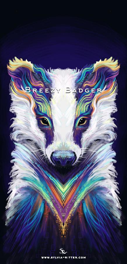 Breezy Badger Art