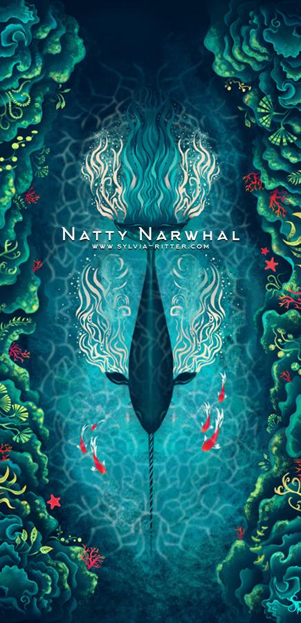 Natty Narwhal Art
