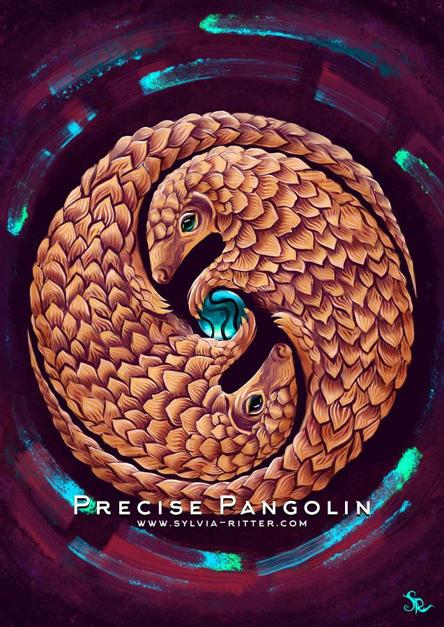 Precise Pangolin Art