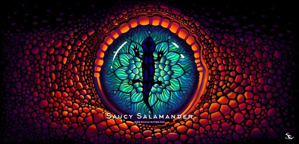 Saucy Salamander Art