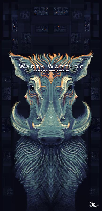 Warty Warthog art