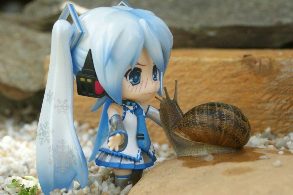 Miku beso caracol